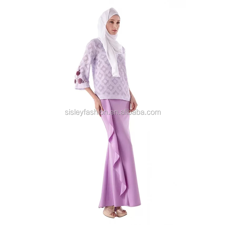 Fashion Baju Kurung Indonesia Muslimah Muslim Clothing for Women with Slim Dress