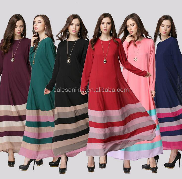 New Fashion Long maxi Dresses Malaysia Abayas in Dubai New Arrival Islamic Muslim lace Dresses for Women Turkish Ladies Clothing
