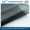 Non woven fusible garment interlining of manufacture