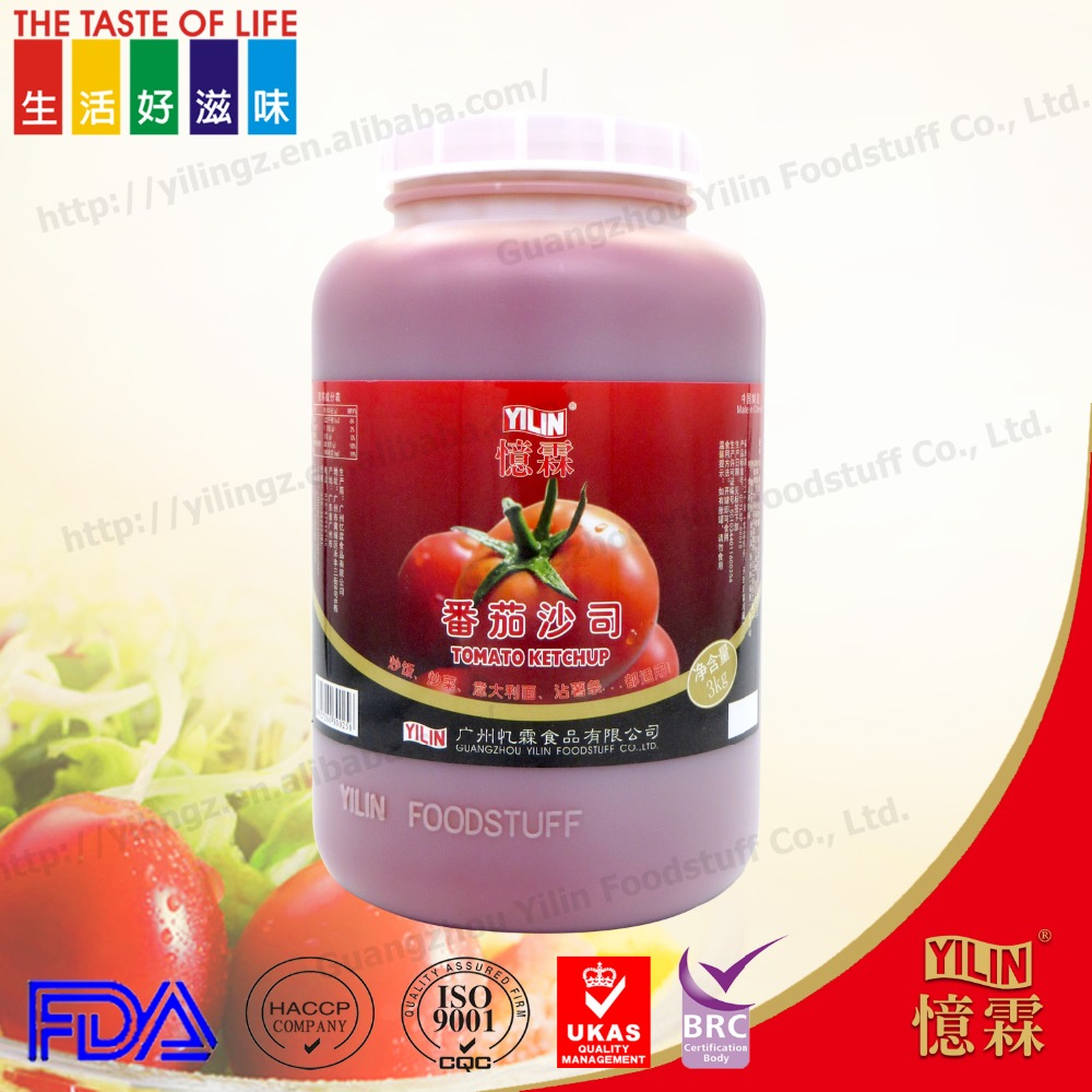 Chinese factory 3KG hot sell OEM Tomato Ketchup sauce in bulk