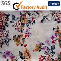Woven Printed Viscose Rayon Fabric For Garment