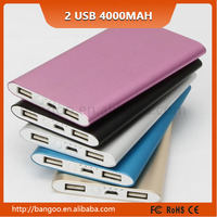 lipstick battery charger portable power bank 4000mah charger portable for all mobile phone