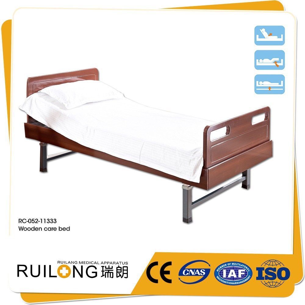 RC-052-11333 Wooden Hospital Used Furniture Electric Nursing Home Bed