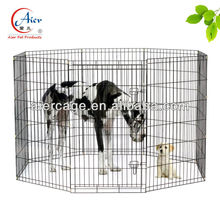 black outdoor exercise dog pen