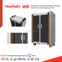 Moving metal charging cabinet for ipad tablet
