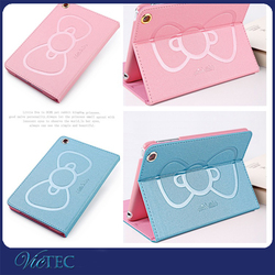 Cute cartoon pattern PU leather tablet case for ipad 4