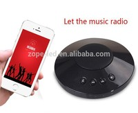 Blue UFO wireless speaker extrinsic feature essential for a party in the open air high acoustic fidelity wifi speaker