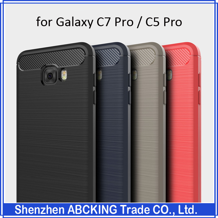 High Quality Luxury Brushed Silicon Protective Cover Case For Samsung Galaxy C7 Pro / Galaxy C5 Pro