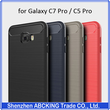 High Quality Luxury Brushed Silicon Protective Cover Case For Galaxy C7 Pro / Galaxy C5 Pro
