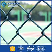 High strength green pvc coated chain link garden fencing