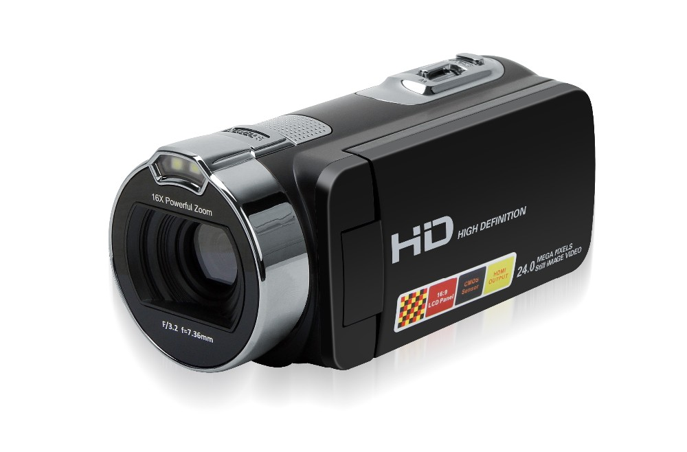 1080P Digital Video Camera Camcorder with 16X Zoom and Full HD Recording HDV-312P