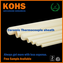 Alumina Ceramic Thermocouple Protection Sheath Tube