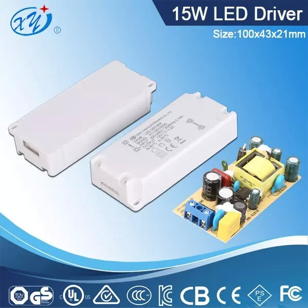 inner LED driver 15v 1a switching power supply with UL CE CUL GS BS approval