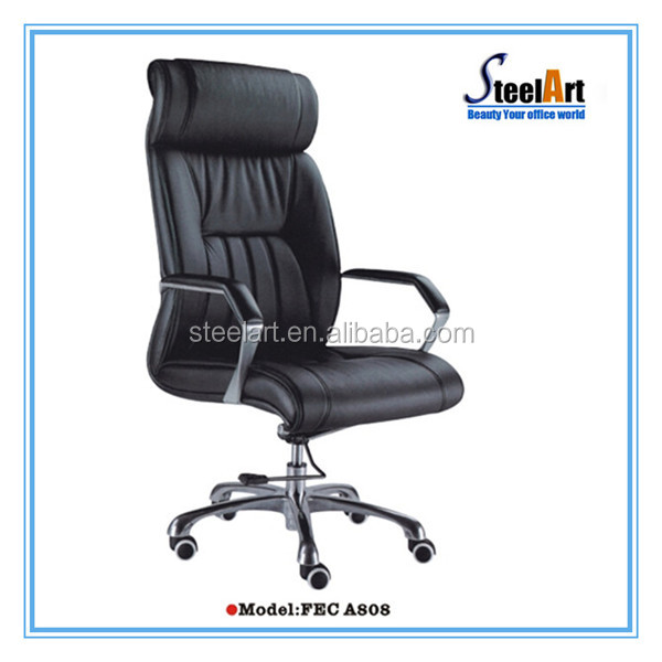 Comfortable design adjustable lumbar support PU leather ergonomic office chair