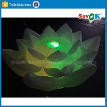 inflatable led flower wedding inflatable lotos flower stage decoration