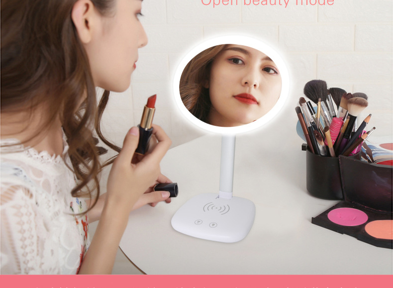 Promotional Cosmetic Natural Light Vanity Makeup Mirror Folding Portable Compact Pocket Mirror