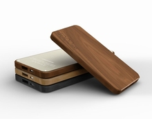 Wooden Promotional Gifts power charger branded power bank for mobile phone