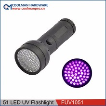 390nm-365nm Purple light uv Flashlight, uv Blacklight Flashlight Urine Detector, uv led Torch battery operated led light