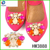 HW3888 beautiful neon stone shoe accessories for ioriginal imported shoes in brazil