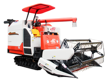 mini soybean rice combine harvester