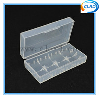 free shipping 1000pcs 2*18650 battery storage box with clear color