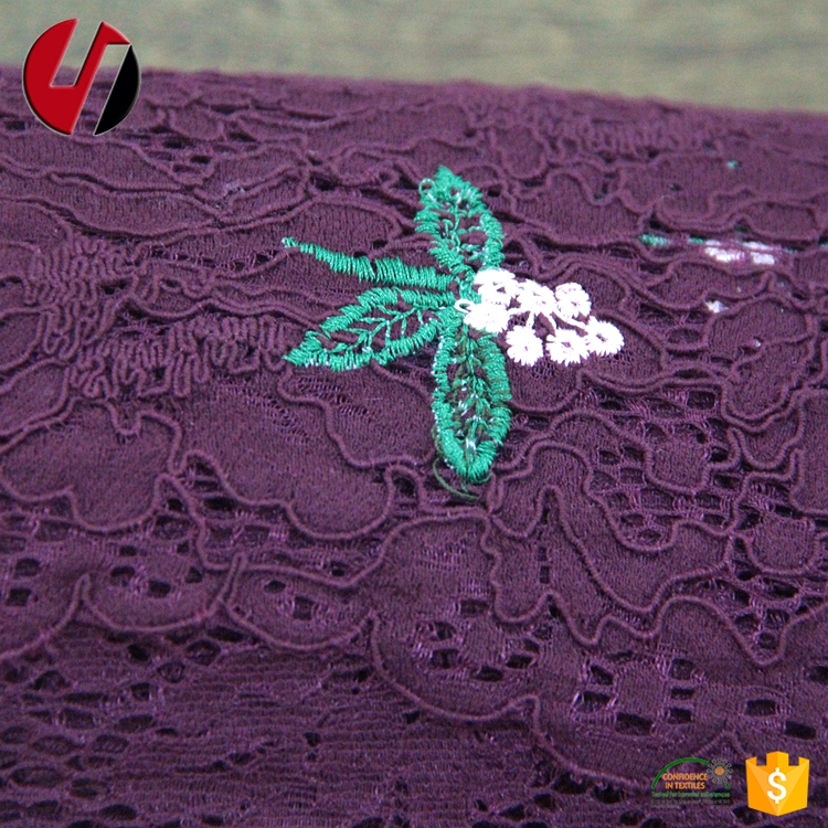 Embroider 3d Polyamide Soft Shirt Big Lace Fabrics Embroidery