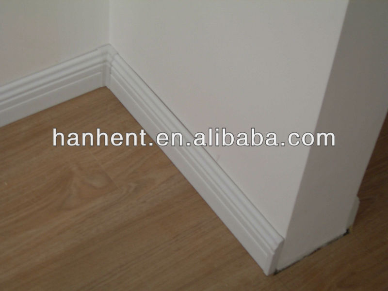 wood color PS Skirting Board/plastic skirting