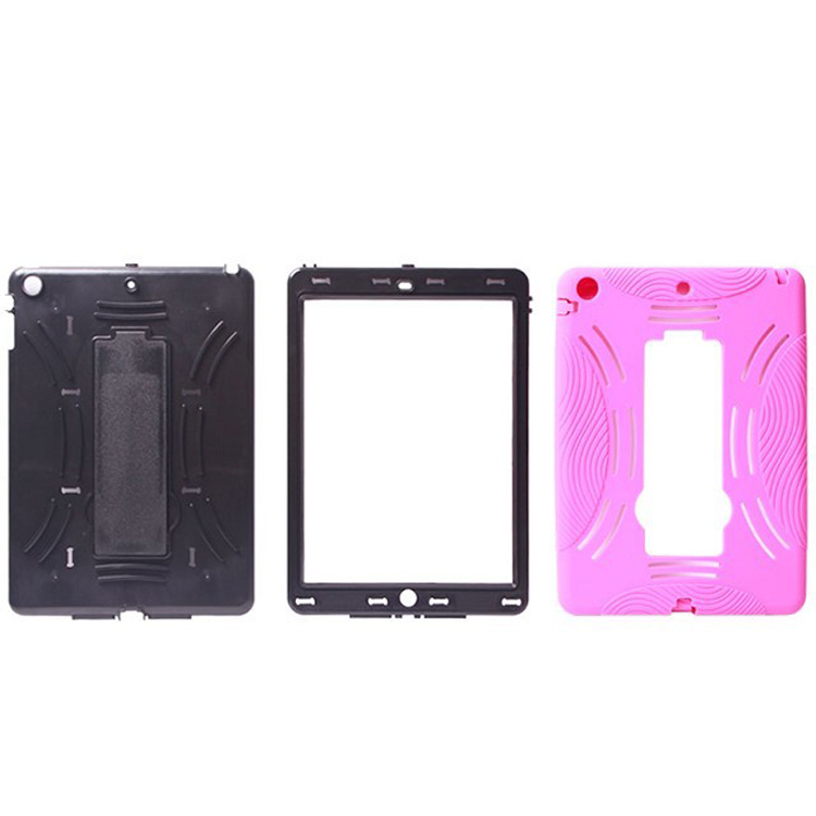 Made in China Cheap bracket PC + silicone Case for Ipad 5,tpu Phone Case