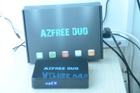 Drop shipping AZFREE DUO smart lnb iptv android smart tv box for South America