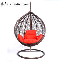 Factory Rattan Wicker Hanging Hubble Chair Hanging Egg Chair With Stand