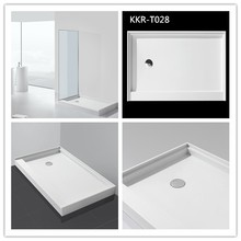 CE Approved Poly Marble Deep Solid Surface Shower Tray