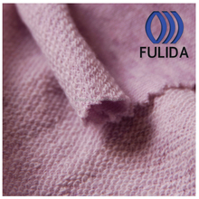 CVC fabric colored cotton knitted french terry fleece fabric