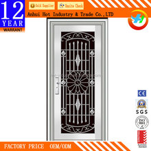 Modern latest design stainless steel door/front door designs / safety door design with grill