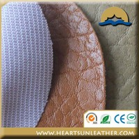 China synthetic pvc leather raw material sofa leather