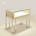 MDF wooden mobile jewelry display case show stand free-standing for store furniture