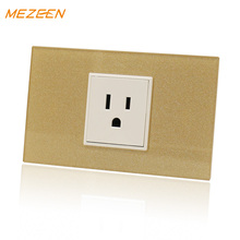 american wall switch socket outlet 3 hole 15a 125v glass panel