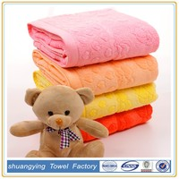 New Arrival Bright Color Bath Towel With Custom OEM Jacquard Logo