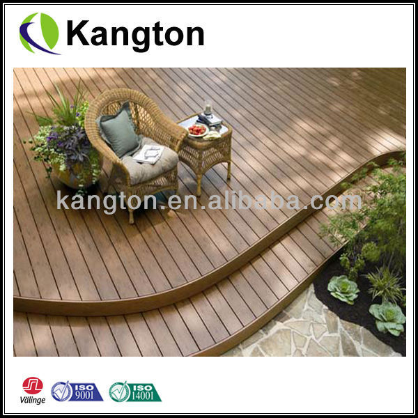 Hot water and slip resistance wpc flooring for outdoor