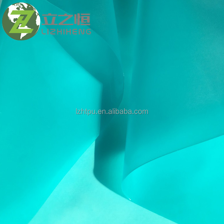 60A-95A Light blue TPU hot melt adhesive film easy to stick
