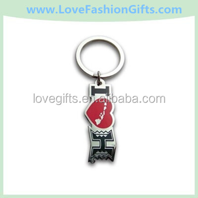 Hawaii University Metal Key Chain I Love UH
