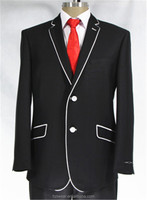 Slim fit suit for man-piping design