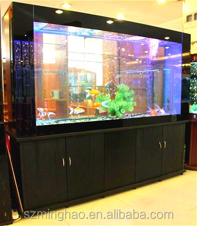 Elegant quality large acrylic fish tank with acrylic panels for aquarium