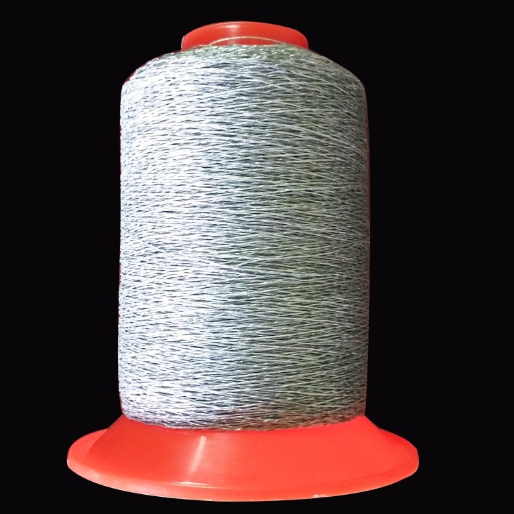 Storage silver water soluble polyamide nylon reflective thread for embroidery safety garment