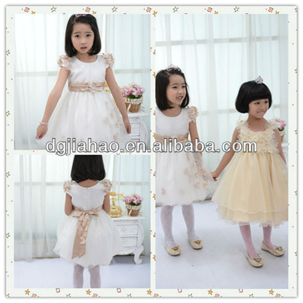 HOT!!! 2012 new arrival fancy sash flower girls dresses,latest gown designs