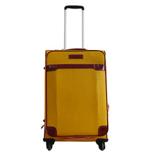 Best quality cheap polyester trolley soft luggage suitcase