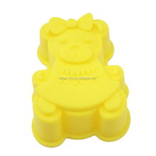 Animal shape silicone ice cube tray silicone bear jelly mold