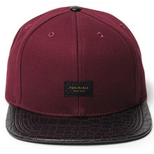 short bill custom leather patch logo snapback hats wholesale visor caps
