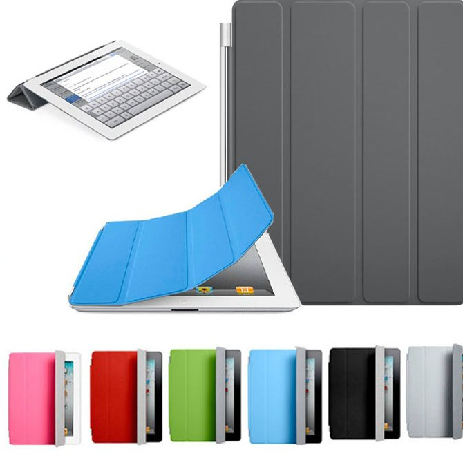 2016 Tablet Cases Covers 2016New Arrival Hot Sale Ultra Thin Magnetic PU Leather Smart Cover Case For iPad 2 3 4 5 for mini 2 3