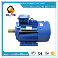 75kw 100hp 3 phase most popular milling machine induction electric motor