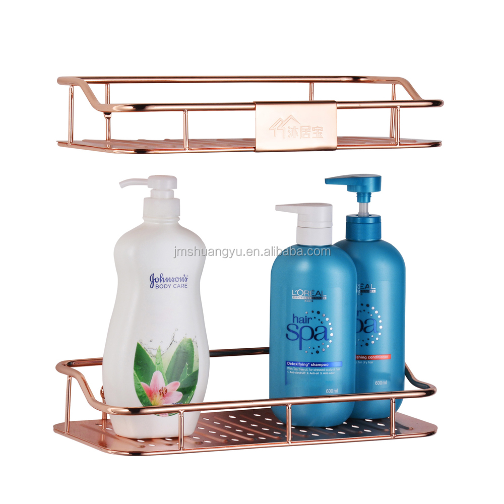 High quality hot sales Bathroom accessories 2 tier bathroom towel corner shelf